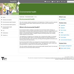 Home: Environmental health - Department of Health and Human Services, Victoria, Australia