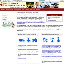 Environmental Health Section - North Dakota Department of Health