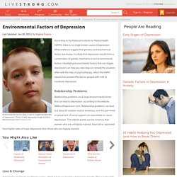 Environmental Factors of Depression