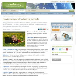 Environmental websites for kids
