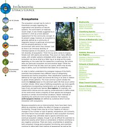 The Environmental Literacy Council - Ecosystems