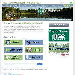 Environmental Education in Wisconsin - Homepage
