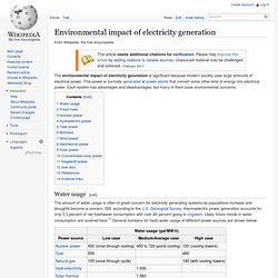 Environmental concerns with electricity generation