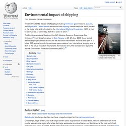 Wikipedia: Environmental impact of shipping