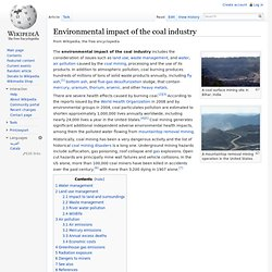 Environmental impact of the coal industry