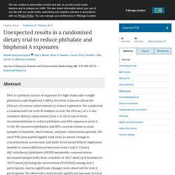 Unexpected results in a randomized dietary trial to reduce phthalate and bisphenol A exposures