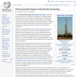 WIKIPEDIA - Environmental impact of hydraulic fracturing.