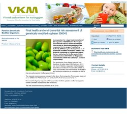 VKM_NO 28/09/15 Final health and environmental risk assessment of genetically modified soybean 356043.