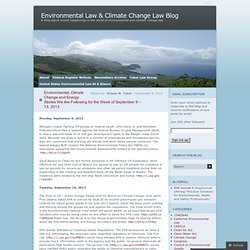 Environmental Law & Climate Change Law Blog
