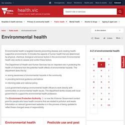Environmental health - health.vic