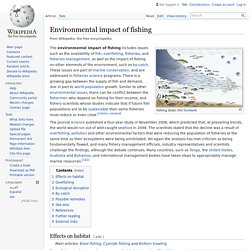 Environmental impact of fishing