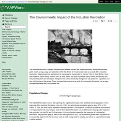 TAAPWorld - The Environmental Impact of the Industrial Revolution