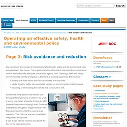 Risk avoidance and reduction - Operating an effective safety, health and environmental policy - BOC