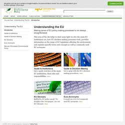 IEEP - Institute for European Environmental Policy - Introduction