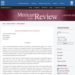 MEXICAN LAW EVIEW - 2016 - MEXICO´S ENVIRONMENTAL LAW IN THE GMO ERA