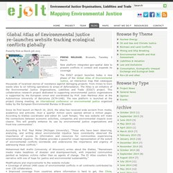 Atlas of Environmental Justice re-launches website