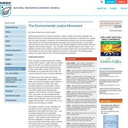 The Environmental Justice Movement