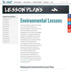 Environmental Lesson Plans