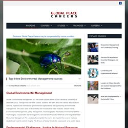 Top 4 free Environmental Management courses