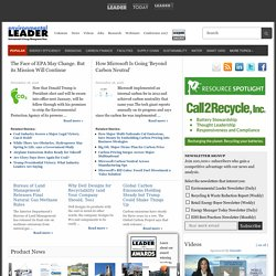 Environmental Leader · Green Business, Sustainable Business, and Green Strategy News for Corporate Sustainability Executives