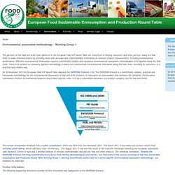 Environmental assessment methodology - Working Group 1