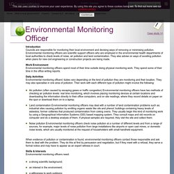 Environmental Monitoring Officer