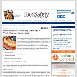 FOOD SAFETY MAGAZINE - December 2016/January 2017 - Au sommaire: Environmental Monitoring in the Era of Whole-Genome Sequencing