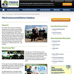 Filta Environmental Kitchen Solutions Franchise Opportunity