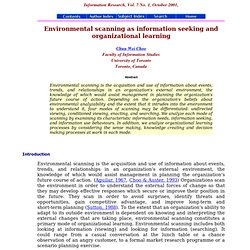 Environmental scanning as information seeking and organizational learning