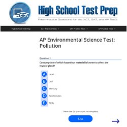 AP Environmental Science Test: Pollution