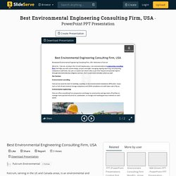 Best Environmental Engineering Consulting Firm, USA PowerPoint Presentation - ID:10357460