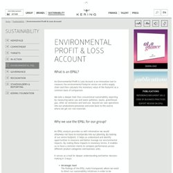 Environmental Profit & Loss Account