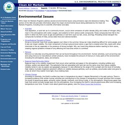 Environmental Protection Agency. See Tab on left for EPA Programs & Regulations