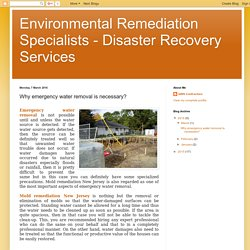 Why emergency water removal is necessary?