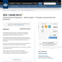 ISO 14046:2014 - Environmental management