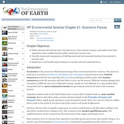 AP Environmental Science Chapter 21- Economic Forces