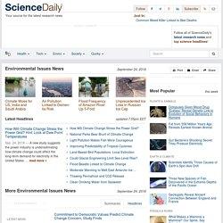 Environmental Issues News