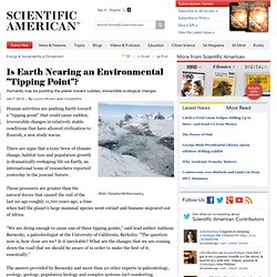 "Is Earth Nearing an Environmental ""Tipping Point""?"