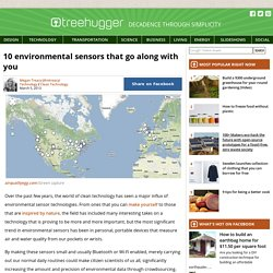 10 environmental sensors that go along with you