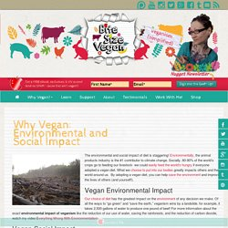 Why Vegan: Environmental and Social Impact