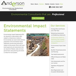 Environmental Impact Statements – Anderson Environmental