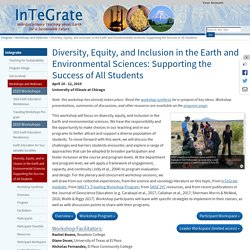 Diversity, Equity, and Inclusion in the Earth and Environmental Sciences: Supporting the Success of All Students