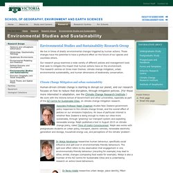 Environmental Studies and Sustainability - School of Geography, Environment and Earth Sciences