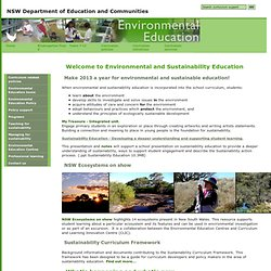 Welcome to Environmental and Sustainability Education