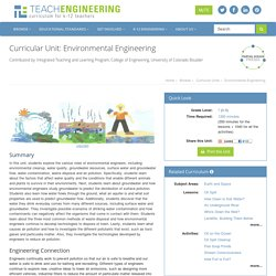 Environmental Engineering - Curricular Unit - www.TeachEngineering.org