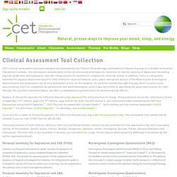 Clinical Assessment Tool Collection - Center for Environmental Therapeutics