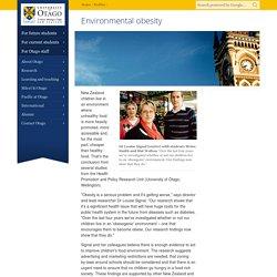 Environmental obesity, Profiles, University of Otago, New Zealand