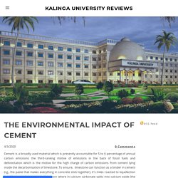 THE ENVIRONMENTAL IMPACT OF CEMENT - KALINGA UNIVERSITY REVIEWS
