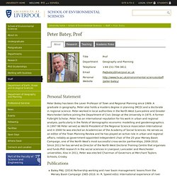Peter Batey - School of Environmental Sciences