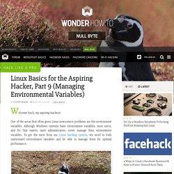Hack Like a Pro: Linux Basics for the Aspiring Hacker, Part 9 (Managing Environmental Variables) « Null Byte